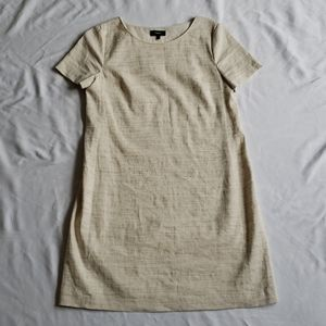 Theory Panel Shift Dress Linen beige size med